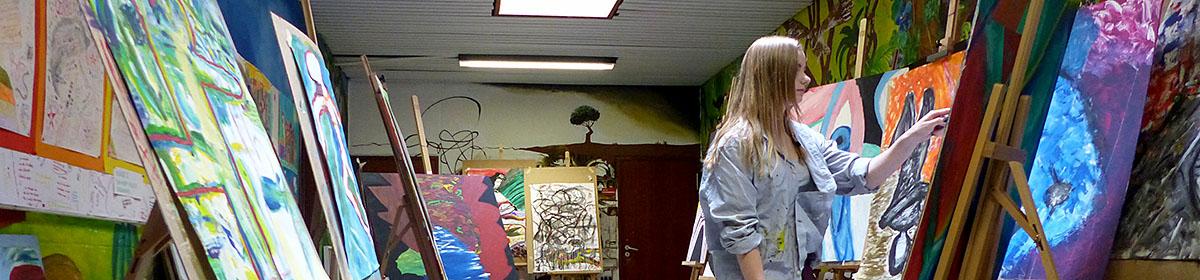 """Der """"Kunstzug"""" am Goldberg-Gymnasium"""